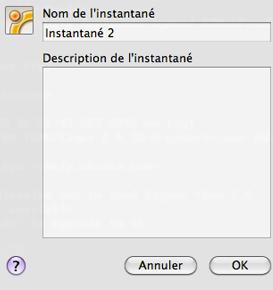 Création d'un instantané avec VirtualBox