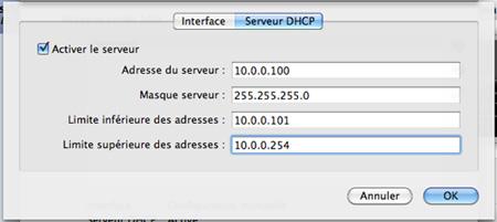 Configuration de l'interface réseau hôte-invité